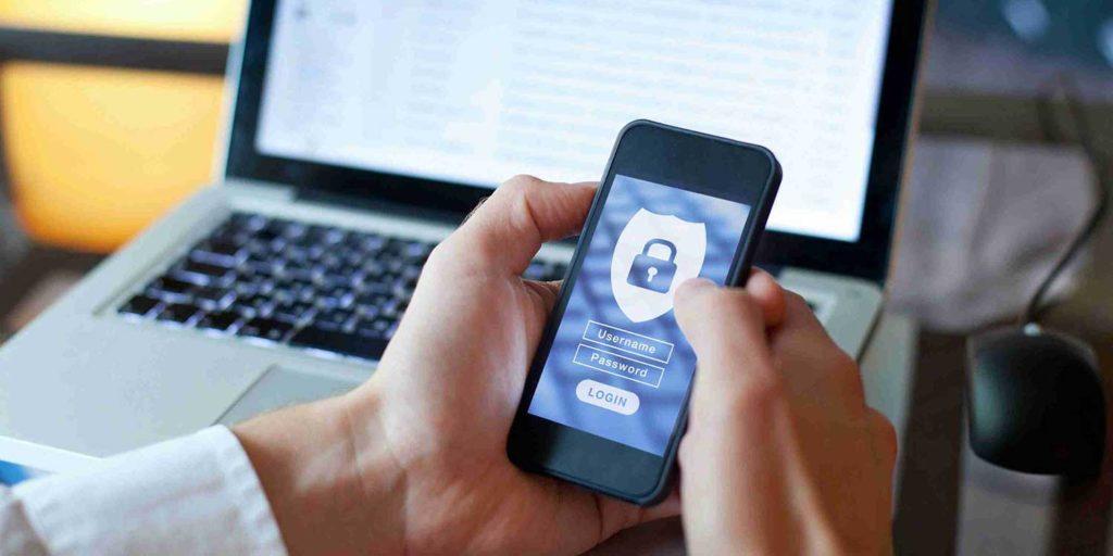 secure login on phone